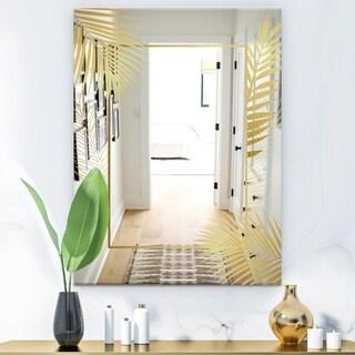 Designart 'Capital Gold Botanical Bliss 6' Glam Mirror - Modern Bathroom Mirror