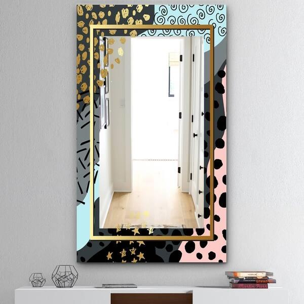 Shop Designart Playful Gold 8 Glam Mirror Decoration Or