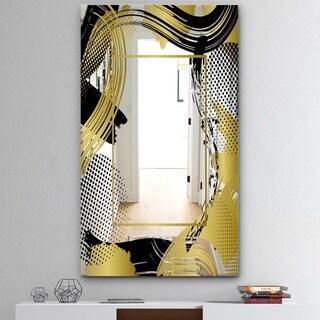 Porch & Den 'Groovy Jungle 15' Mid-Century Mirror - Gold