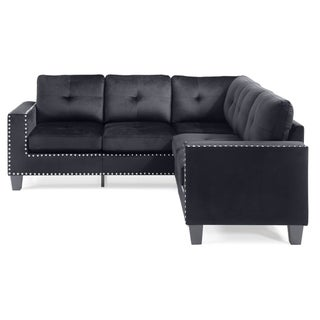 LYKE Home Nyla Black Sectional