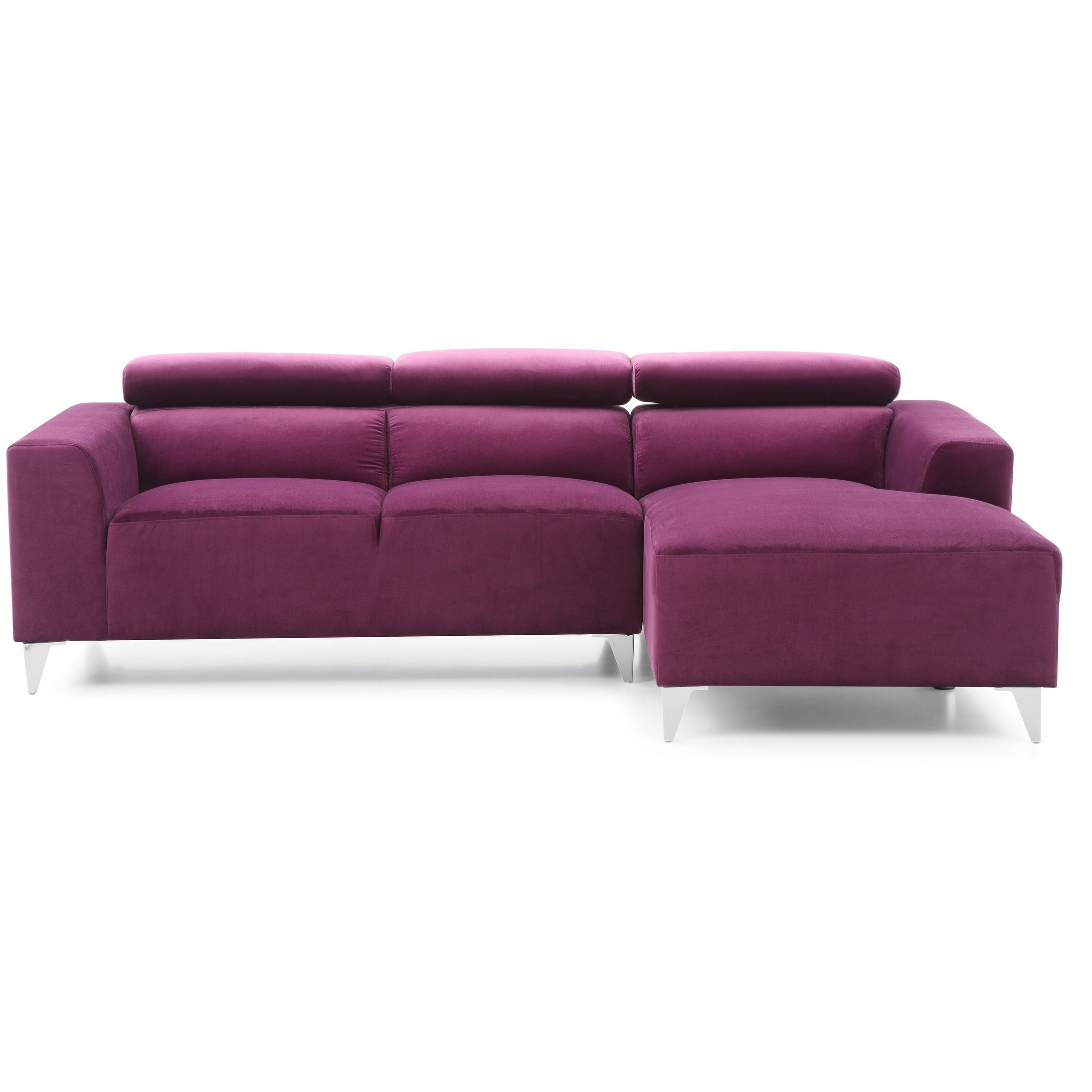 Wondrous Lyke Home Leila Purple Sectional Ibusinesslaw Wood Chair Design Ideas Ibusinesslaworg