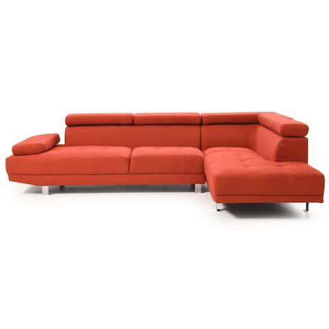 LYKE Home Kori Orange Sectional
