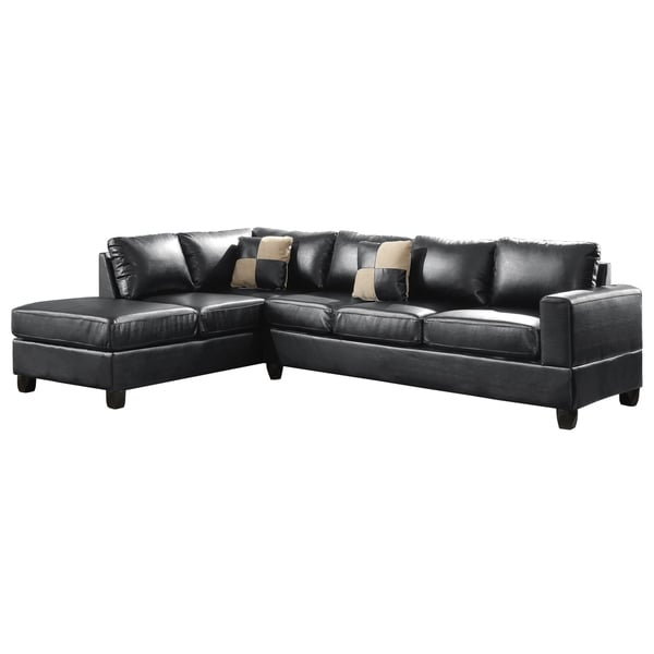 LYKE Home Ryder Black Sectional