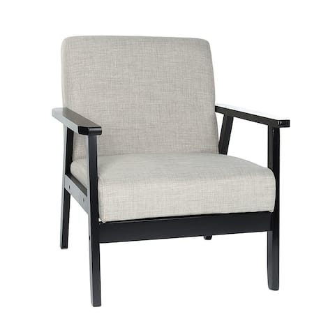 Art-Leon Upholstered Fabric Accent Armrest Chair