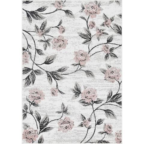L'Baiet Luna Pink Floral Rug