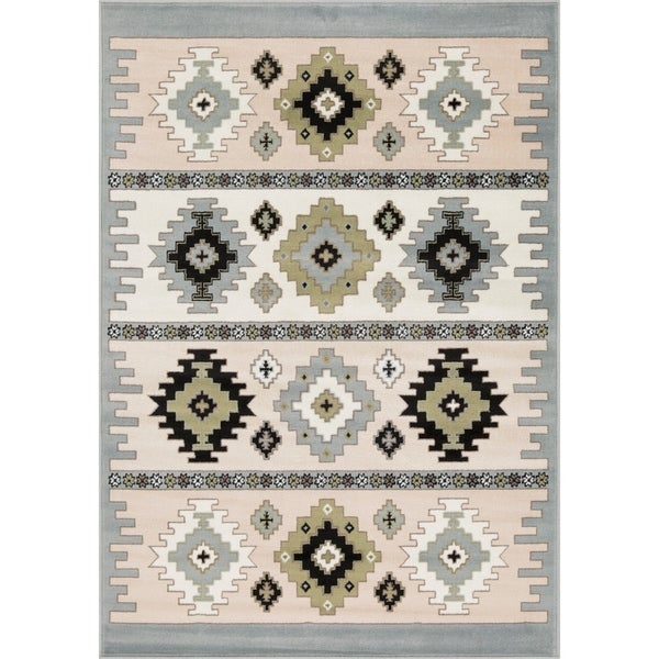 L'Baiet Willow Grey Southwestern Rug