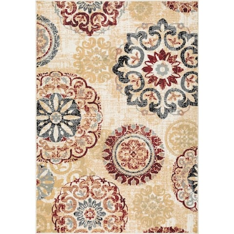 L'Baiet Brielle Red Mid-Century Rug