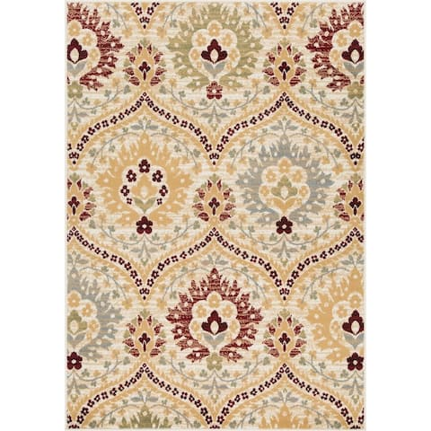 L'Baiet Charlotte Red Traditional Rug