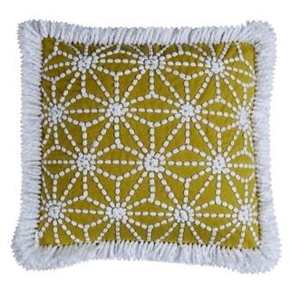 "Catena Throw Pillow Cover Ochre (20""X20"")"