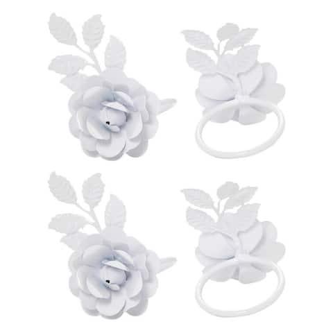 Rose Napkin Rings Set of 4