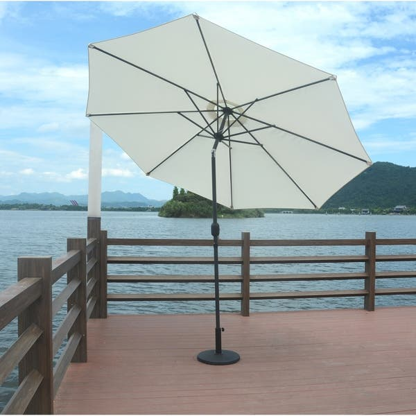 cac0bfe370 Shop 9.8 ft Patio Market Umbrella with Base by Moda Furnishings - On ...