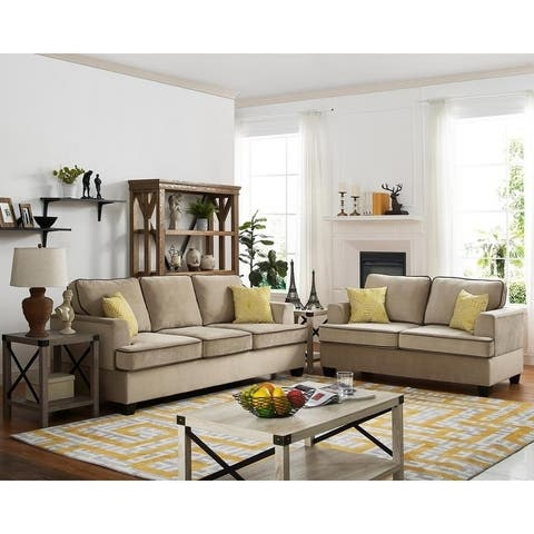 Copper Grove Chatou Velvet Sofa and Loveseat