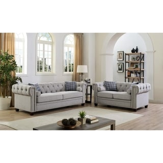Copper Grove Genevieve Linen Sofa and Loveseat