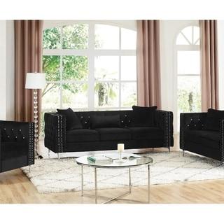 LILOLA Lorreto Velvet Sofa