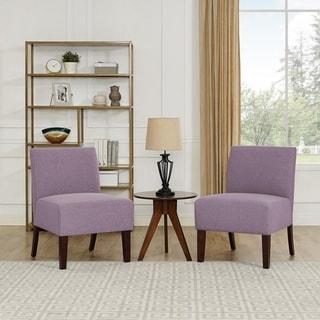 Copper Grove Meyzieu Lavender Linen Slipper Chair