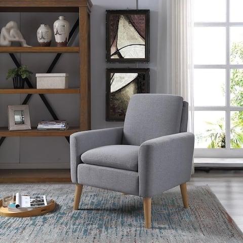 Carson Carrington Habborn Linen/Wood Armchair
