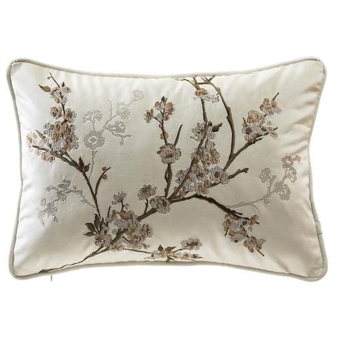 Cherry Blossom Emb. Pillow Cover - 14*20