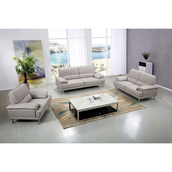 Contemporary Leather Upholstered Living Room Chair