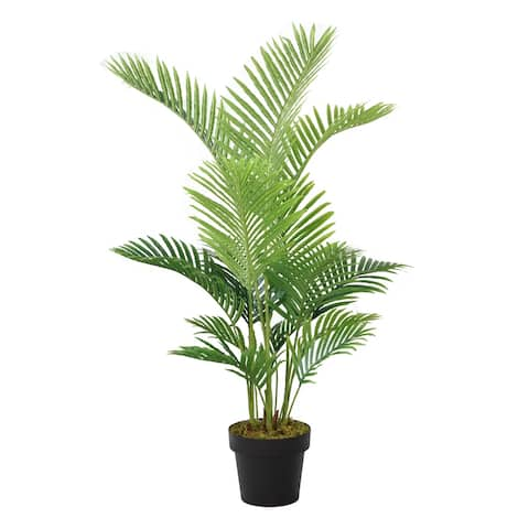 """48 In. Real Touch Palm Tree Silk Plant - 56"""""""