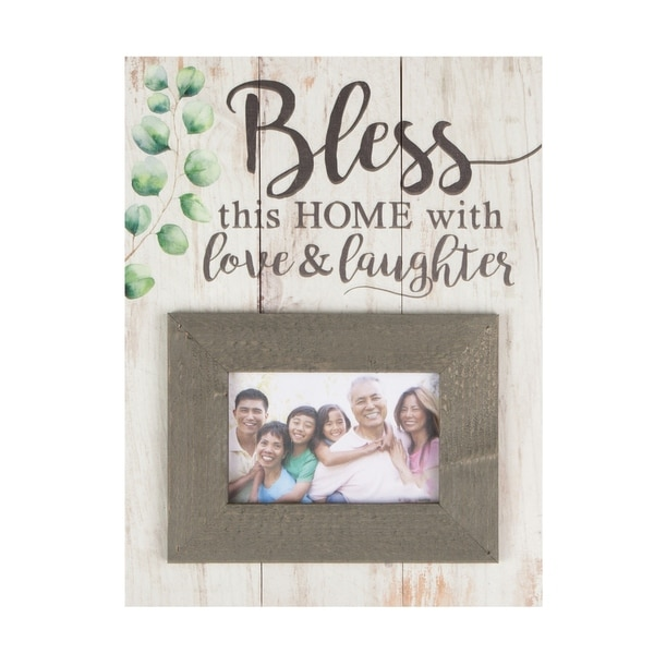 Bless This Home With Love & Laughter Photo Frame