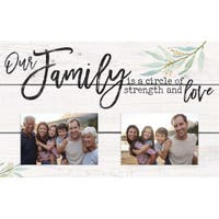 Our Family Is A Circle Of Strength And Love Photo Frame