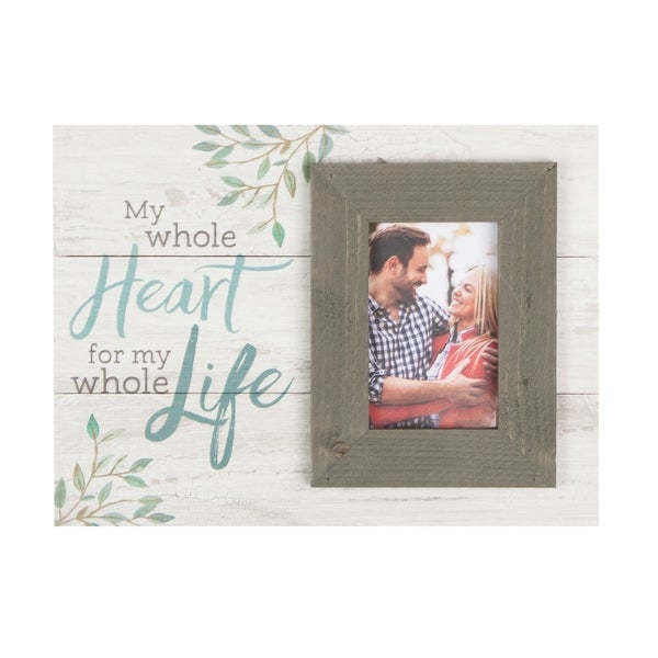 My Whole Heart For My Whole Life Photo Frame