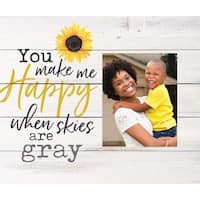 You Make Me Happy When Skies Are Grey Photo Frame