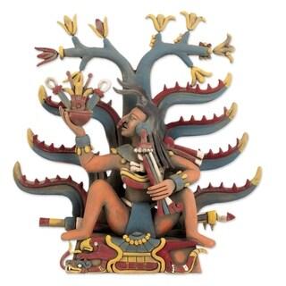 Handmade Mayahuel Fertility Goddess Ceramic Sculpture (Mexico)