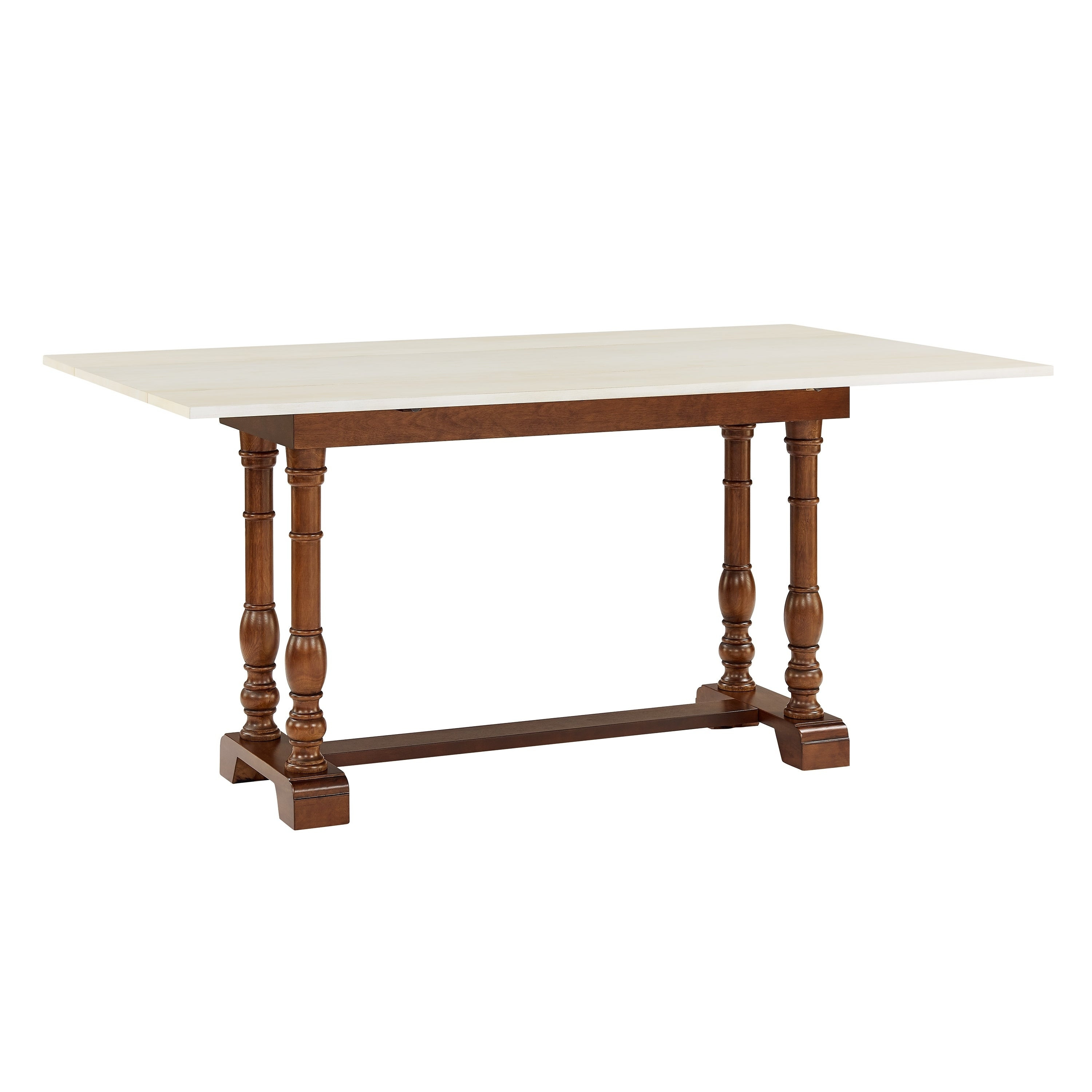 Phenomenal Harper Blvd Eddlewood Farmhouse Folding Trestle Console To Dining Table Dark Tobacco Ivory Caraccident5 Cool Chair Designs And Ideas Caraccident5Info