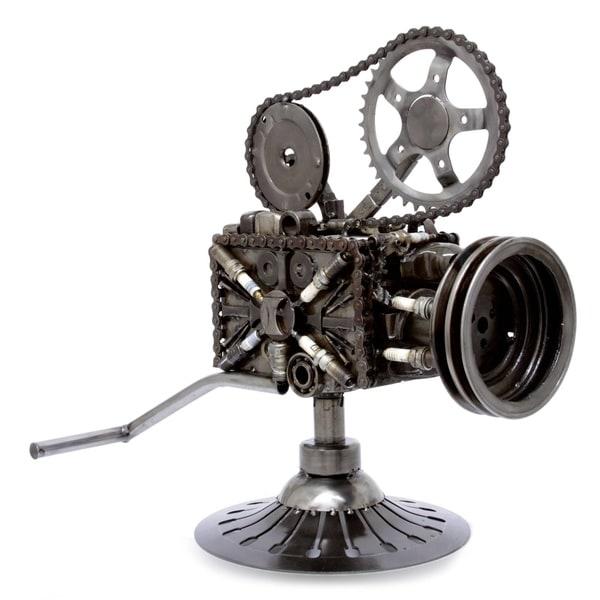 Handmade Rustic Film Projector Auto Parts Sculpture (Mexico)