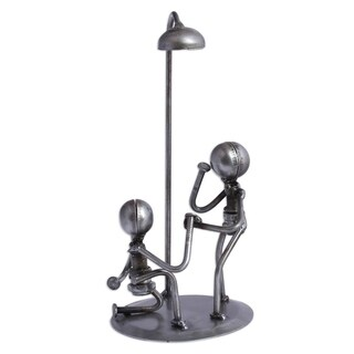 Handmade Pair Upcycled Metal Auto Part Sculpture (Mexico)