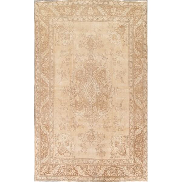 Antiques Rugs & Carpets Lovely Vintage Traditional Medallion Tebriz Persian Oriental Handmade Wool Rug 6x10