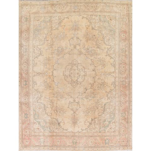 "Gracewood Hollow Mbise Handmade Distressed Medallion Persian Area Rug - 12'5"" x 9'5"""
