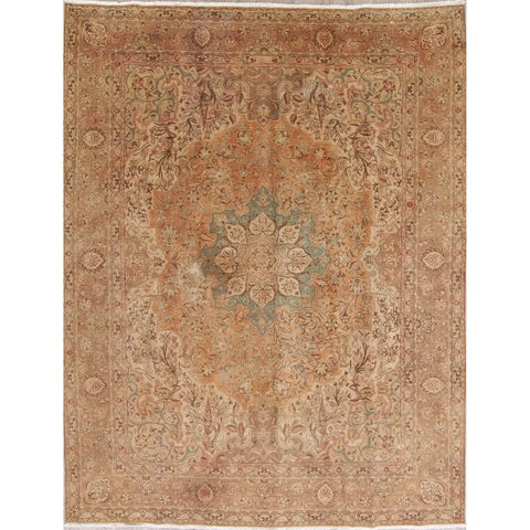 Gracewood Hollow Nyerere Handmade Distressed Wool Muted Handmade Rug - 12'8 x 9'10