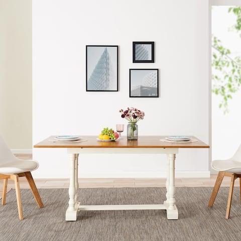 The Gray Barn Eddlewood Farmhouse Folding Trestle Console to Dining Table - Oak