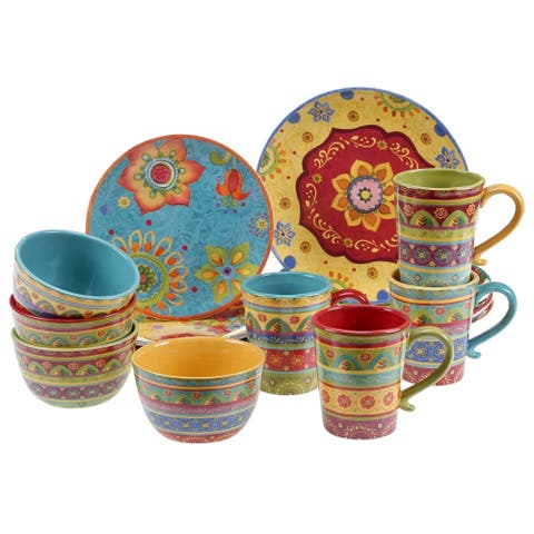 Certified International Tunisian Sunset 16-piece Dinnerware Set