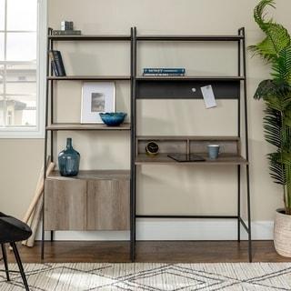 Carbon Loft Lahuri 2-Piece Desk and Ladder Storage Cabinet Set