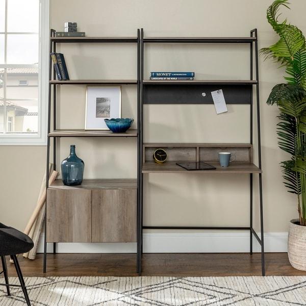 Carbon Loft Lahuri 2-Piece Desk and Storage Set