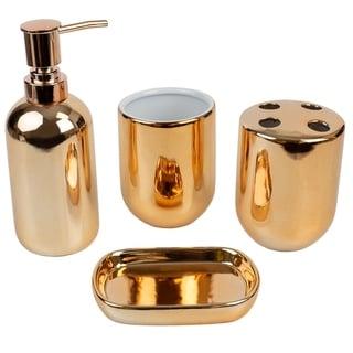 Link to 4 Piece Ceramic Bath Accessory Set, Copper Similar Items in Bathroom Accessory Sets