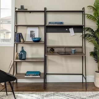 Carbon Loft Lahuri 2-Piece Desk and Ladder Bookshelf Set