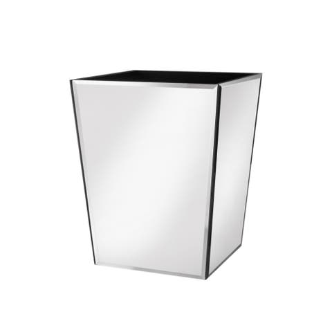 mirror waste basket 7.87x7.87x9.84""