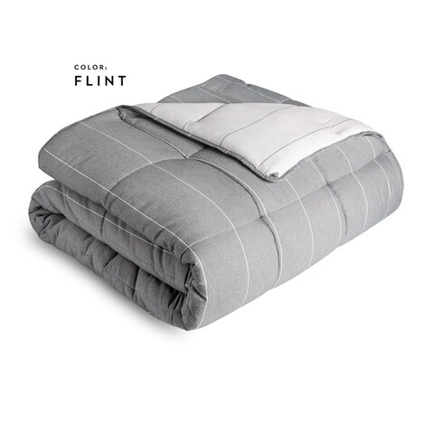 Malouf Reversible Hypoallergenic Down Alternative Chambray Comforter Set
