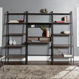 Carbon Loft Lahuri 3-Piece Desk and Shelf Set
