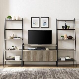 Carbon Loft Lahuri  3-Piece Ladder Shelf Entertainment Wall - 108 x 18 x 72H