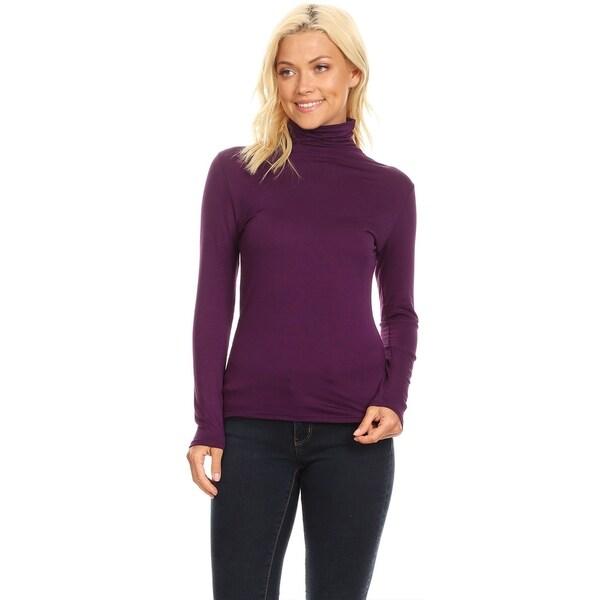 Women/'s Lightweight Turtleneck Long Sleeve Pullover Tops