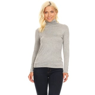 Link to Women's Solid Premium Long Sleeve Turtleneck Lightweight Pullover Top Sweater Similar Items in Women's Sweaters