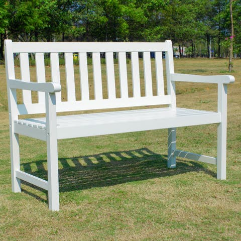 International Caravan Highland 48-inch Indoor/Outdoor Bench