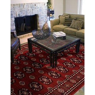 Porch & Den Whitmore Red Area Rug