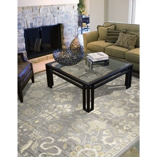 Porch & Den Wildhaven Gray Floral Area Rug