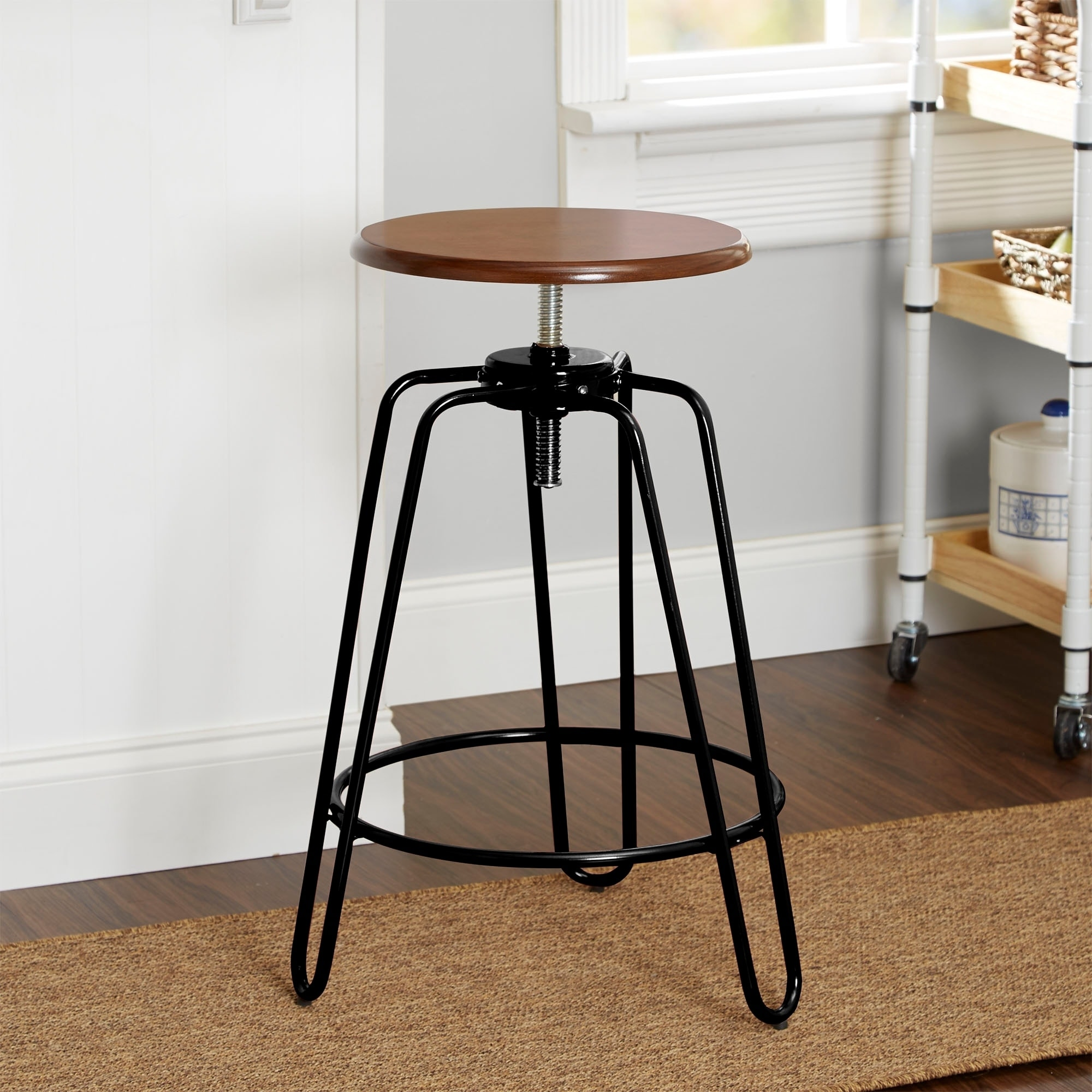 Astounding Adjustable Height Hairpin Leg Stool Gmtry Best Dining Table And Chair Ideas Images Gmtryco